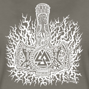 Mjolnir-Valknut-White Ladies - Women's Premium T-Shirt