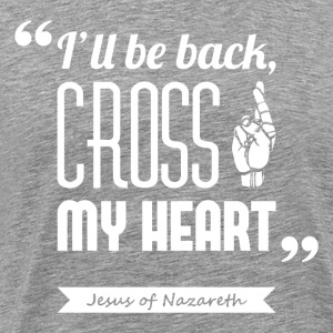 Jesus' cross | T-shirt quote ♂ - Men's Premium T-Shirt