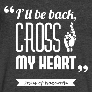 Jesus' cross | V-neck shirt quote ♂ - Men's V-Neck T-Shirt by Canvas