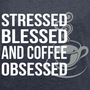 Coffee Obsessed T-Shirts - Women´s Rolled Sleeve Boxy T-Shirt