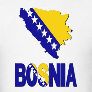 Bosnia Flag In Bosnian Map T-Shirt - Men's T-Shirt