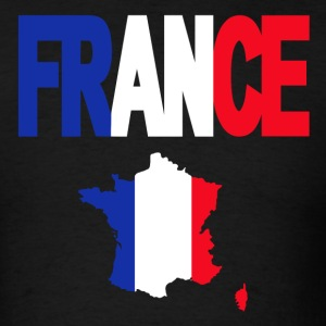 French Flag In French Map France T-Shirt - Men's T-Shirt