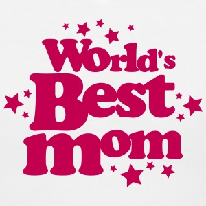 world's best mom T-Shirts - Women's V-Neck T-Shirt