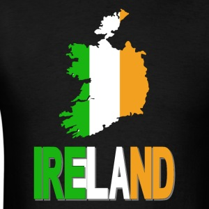 Ireland Flag Clipped In Irish Map Ireland T-Shirt - Men's T-Shirt