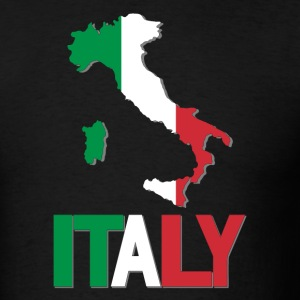 Italy Flag In Italy Map T-Shirt - Men's T-Shirt