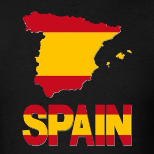 Spainish Flag In Spanish Map Spain T-Shirt - Men's T-Shirt