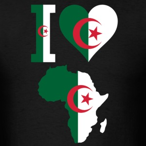I Love Algeria Flag Africa Map T-Shirt - Men's T-Shirt