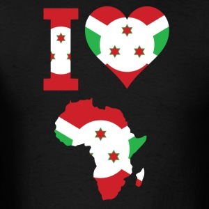 I Love Africa Map with Burundi Flag t-sHIRT - Men's T-Shirt