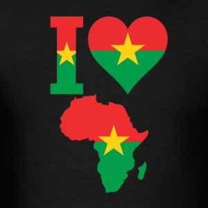 I Love Ivory Coast Africa Map T-Shirt - Men's T-Shirt
