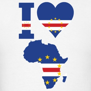 I Love Africa Map Cape Verde T-Shirt - Men's T-Shirt