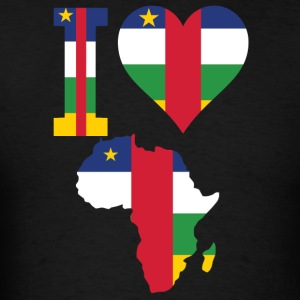 I Love Africa With Central Africa Republic Flag  - Men's T-Shirt