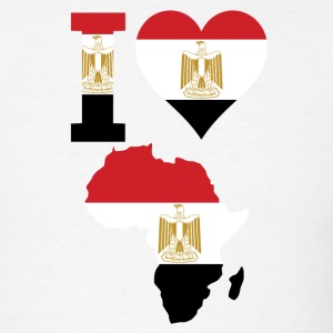 I Love Africa Map With Egypt Flag T-Shirt - Men's T-Shirt