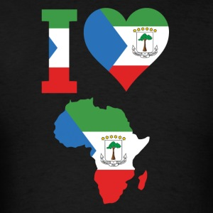 I Love Africa Equatorial Guinea Flag T-Shirt - Men's T-Shirt