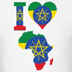I Love Africa with Ethiopia T-Shirt - Men's T-Shirt