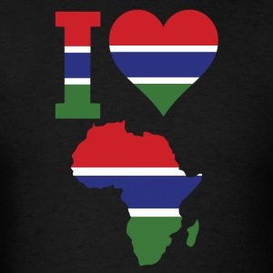 I Love Africa with Gambia Flag - Men's T-Shirt