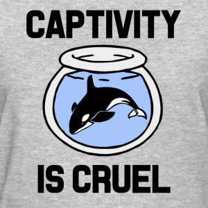 Captivity is Cruel, Free the Orca Whales shirt  - Women's T-Shirt