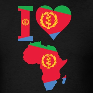 I Love Africa Map with Eritrea Flag - Men's T-Shirt