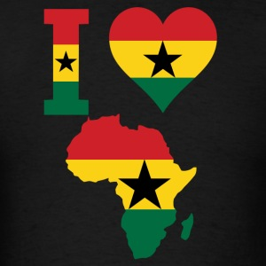 I Love Africa Map With Ghana Flag - Men's T-Shirt