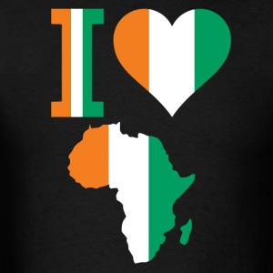 I Love Africa With Ivory Coast Falg T-Shirt - Men's T-Shirt