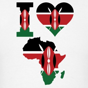 I Love Africa Map Kenya Flag T-Shirt - Men's T-Shirt