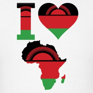 I Love Africa Malawi Flag T-Shirt - Men's T-Shirt