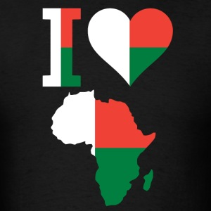 I Love Africa Madagascar Flag T-Shirt - Men's T-Shirt