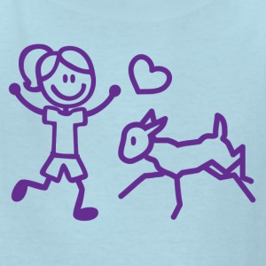 Stick Girl and her Goat Kids' Shirts - Kids' T-Shirt