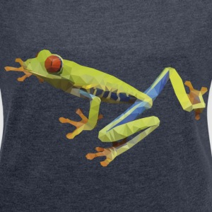 red eyes frog from south american - Women's Roll Cuff T-Shirt