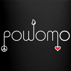 powomo white with red heart Mugs & Drinkware - Full Color Mug