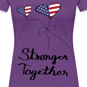 2016 Vote Hillary Women's Premium Purple T-Shirt - Women's Premium T-Shirt