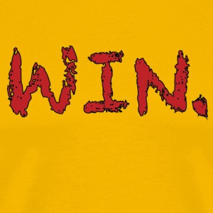 Red/Yellow Win Period T-Shirt - Men's Premium T-Shirt