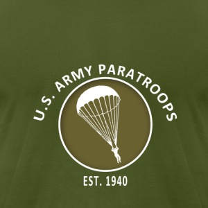 US Paratroops - Men's T-Shirt by American Apparel