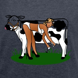 Cow Milking Dry T-Shirts - Women´s Roll Cuff T-Shirt