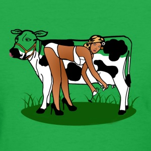 Cow Milking Dry T-Shirts - Women's T-Shirt