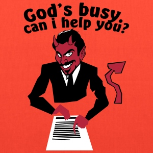 God's  busy. Can i help? Bags & backpacks - Tote Bag