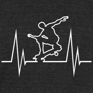 Skateboard Hearbeat - Unisex Tri-Blend T-Shirt by American Apparel