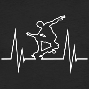 Skateboard Hearbeat - Fitted Cotton/Poly T-Shirt by Next Level