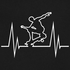 Skateboard Hearbeat - Men's V-Neck T-Shirt by Canvas