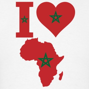 I love Africa map Corocco Flag T-Shirt - Men's T-Shirt