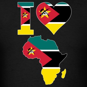 I Love Africa Map Mozambique Flag T-Shirt - Men's T-Shirt