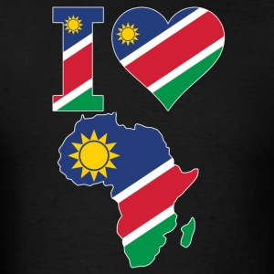 I Love Africa Map Namibia Flag T-Shirt - Men's T-Shirt
