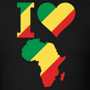 I Love Africa Map Congo Flag t-shirt - Men's T-Shirt