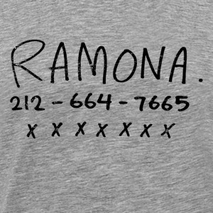 Ramona's Phone Number - Men's Premium T-Shirt