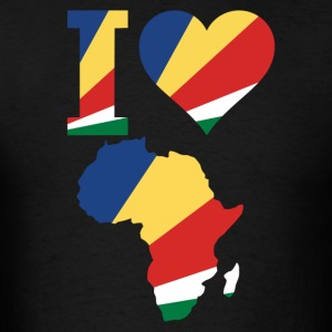 I Love Africa Map Seychelles Flag T-Shirt - Men's T-Shirt