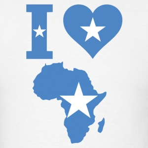I Love Africa Somalia Flag - Men's T-Shirt