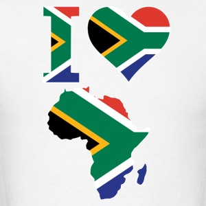 I Love Africa Map South Africa Flag T-Shirt - Men's T-Shirt