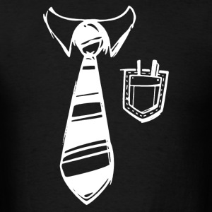 Geek Pocket Protector Tie T-Shirts - Men's T-Shirt