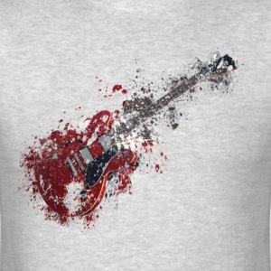 Splatter paint guitar music T-Shirts - Men's T-Shirt