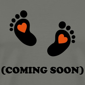 Baby footprint - coming soon T-Shirts - Men's Premium T-Shirt