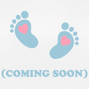 Baby footprint - coming soon T-Shirts - Women's Premium T-Shirt